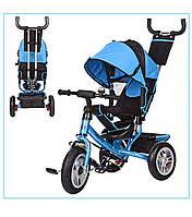 Детский трехколёсный велосипед Turbo Trike M 3113-5A с надувными колёсами