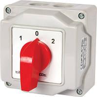 Пакетный переключатель LK16/4.322-ОВ/45 в корпусе, 4p, 0-1-2, 16А, IP44