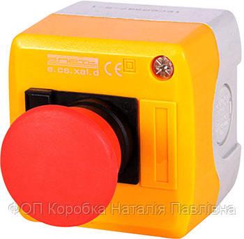 Кнопочный пост e.cs.stand.xal.d.164, стоп, кнопка-грибок