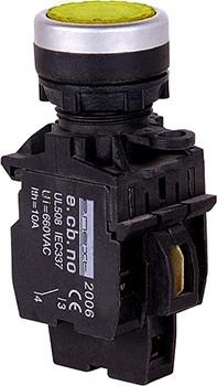 Кнопка-индикатор e.pb.la.stand.32.td.11.yellow, желтая