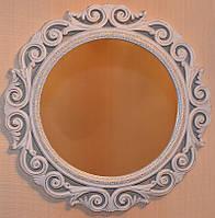 Настенное зеркало с патиной (41 см.)