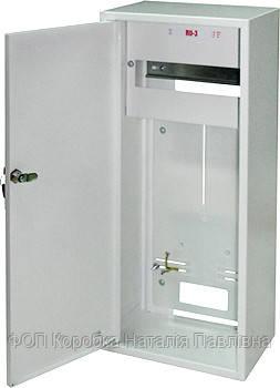 Шкаф распределительный e.mbox.RU-3 Z мет. навесной, 3-ф. счетчик,12 мод.,  560х255х185 мм замком
