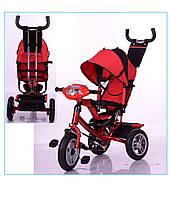 Трехколёсный детский велосипед Turbo Trike M 3115-3HA с надувными колесами