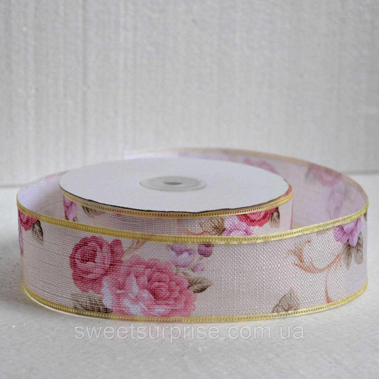 Лента декоративная 40 мм (цветы)
