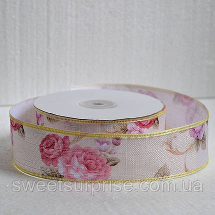 Лента декоративная 40 мм (цветы), фото 2