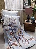 Tac Arlet V01 mavi постельное белье с пледом