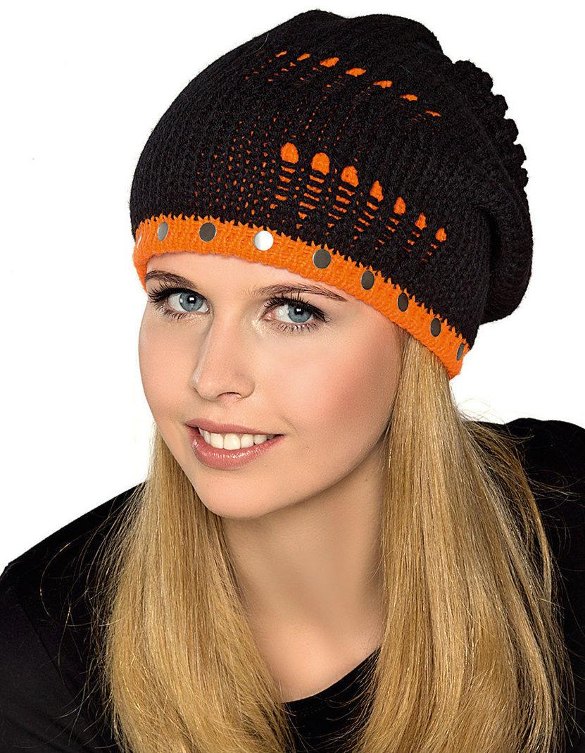 Теплая вязанная шапочка для девочки подростка от Loman Польша