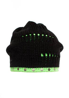 Теплая вязанная шапочка для девочки подростка от Loman Польша, фото 2