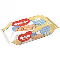 Влажные салфетки для детей Huggies Pure Без запаха 56 шт.