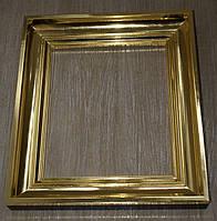 Позолота сусальным золотом широких деревянных рам для старинных икон
