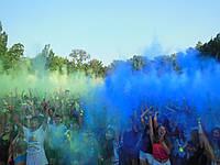 Фарба Холі (Гулал), Синя, фасування 100 грам, суха порошкова фарба для фестивалів, фотосесій, флешмобів