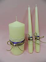 Свадебные свечи ручной работы в стиле рустик