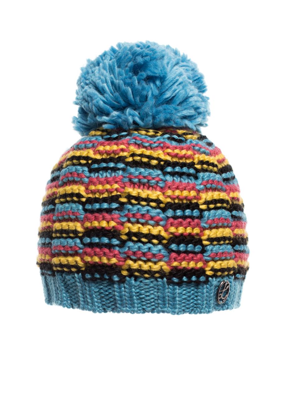 Тепла в'язана шапочка для дівчинки підлітка від Loman Польща