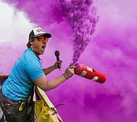 Фарба Холі (Гулал), Фіолетова, фасуваня 100 грам, суха порошкова фарба для фествиалів, флешмобів, фото