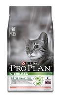 Корм для кастрированных кошек, с лососем  Pro Plan Sterilised Salmon 10 кг.