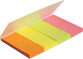 Закладка паперова неонова 4х20х50мм,160 шт, прям. 241552445-01-А