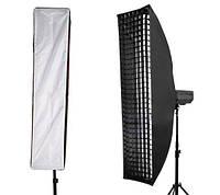 Софтбокс (стрипбокс) для фотосъемки с сотами F&V 35х160 см крепление Bowens