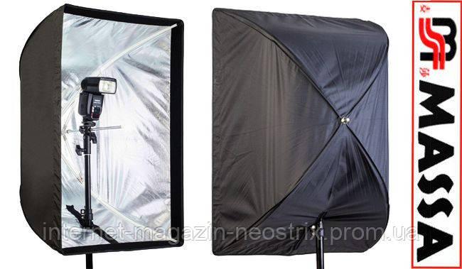 Софтбокс для фотосъемки на вспышку Massa 80x120 см