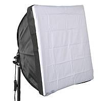 Софтбокс для фотосъемки Massa 60х60 см с держателем на лампу E27