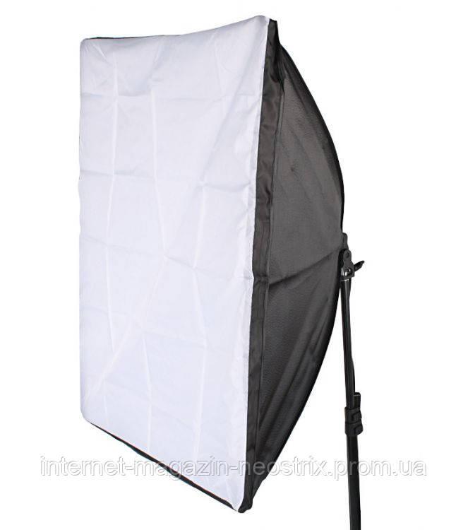 Софтбокс для фотосъемки Massa 50х70 см с держателем на лампу E27
