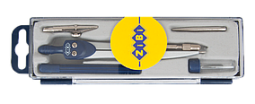 Готовальня BASIS 5 предметов, темно-синий, KIDS Line (ZB.5304BS-03)