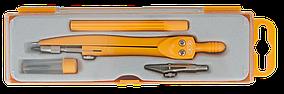 Готовальня NEON BASIS 4 предмета, желтый, KIDS Line (ZB.5322NN-08)