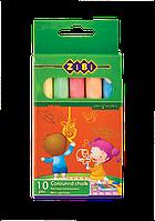 Мел цветной круглый, 10 шт., картонная коробка, KIDS Line (ZB.6700-99)