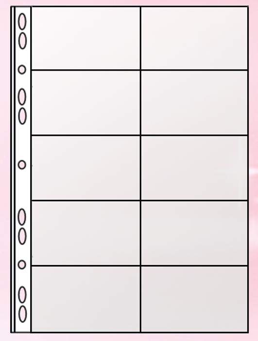 Файл для 20 візиток Panta Plast А4 (PVC)0311-0003-00