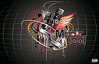 Подкладка для письма  Panta Plast Музыка с карманом 665x430мм, PVC 0318-0035-94