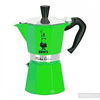 Гейзерная кофеварка Bialetti Moka Color на 3 чашки Зеленая (0009122)