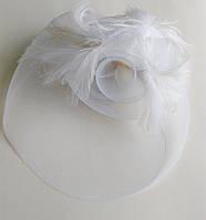 """Вуалетка белая """"Изысканность""""  (вуаль, шляпка)"""