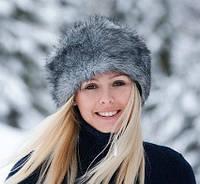 Очень теплая искусственная зимняя шапка с утеплителем