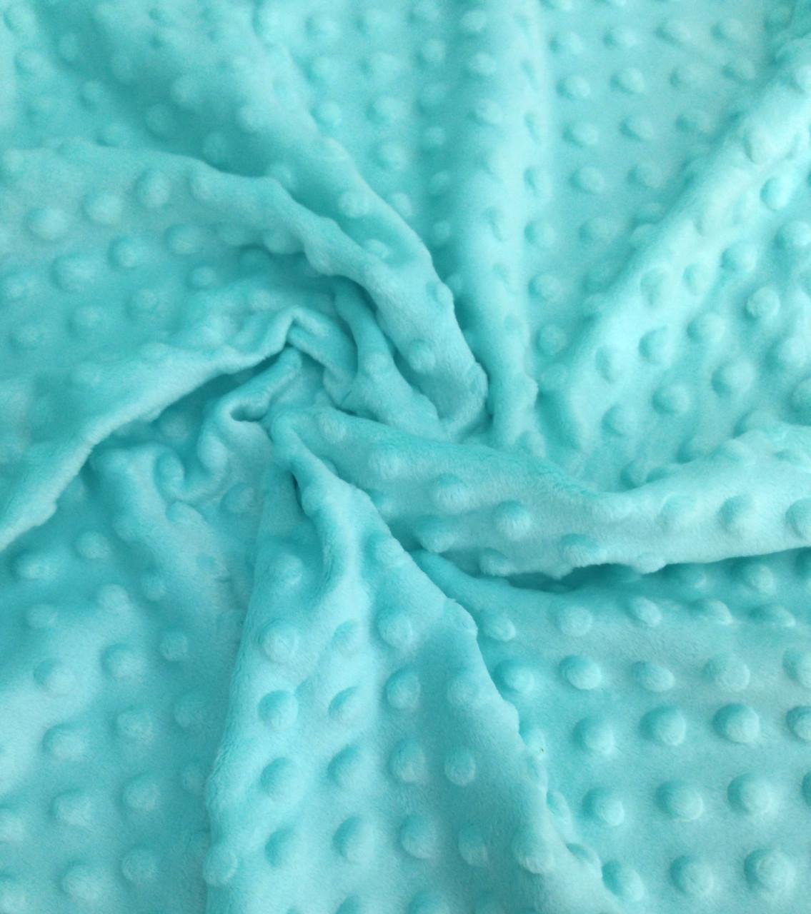 Плюшевая ткань Minky светло-мятный (плот. 350 г/м.кв)