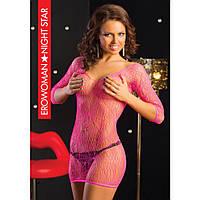 Платье - сетка розового цвета