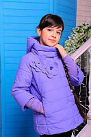 Куртка весенняя для девочки «Миледи», цвет лаванда Размеры 32, 38