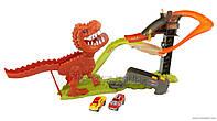 Трек 8899-91 Динозавр поймай тачку, машинки 2шт,