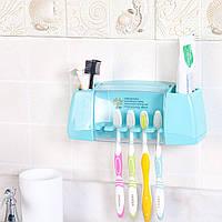 Держатель зубных щеток и пасты Morning Dew - Blue