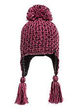 Теплая вязанная молодежная шапочка для девушек от Loman Польша, фото 2