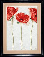 """Набор для вышивания крестом """"Flamenco Poppies//Маки фламенко"""" Design Works"""