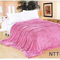 Покрывало-плед Меховый 220*240см, Розовый, фото 2