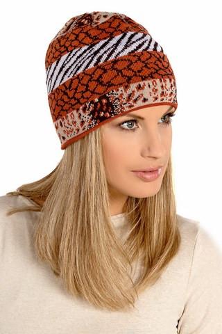 Тепла в'язана жіноча шапочка від Loman Польща