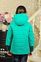 Куртка весенняя для девочки «Миледи», цвет  бирюза Размер 32, фото 2