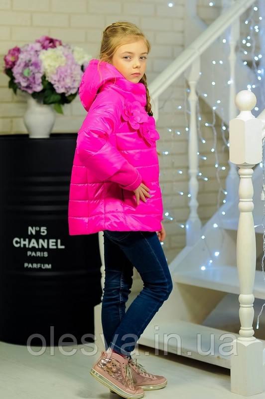 Куртка весенняя для девочки «Миледи», цвет малина Размер 32-42
