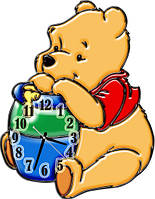 Часы настенные детские фигурные 30*40 см - Винни 2 3D фотопечать