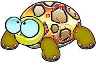 Часы настенные фигурные 30*45 см - Забавная черепашка 3D фотопечать