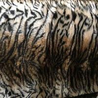 """Чехлы универсальные искуственный мех коричневый """"Тигр"""" (полный комплект)"""