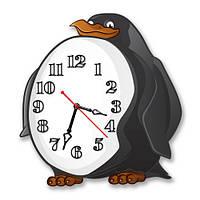 Часы настенные фигурные 30*30 см - Часы-Пингвин 3D фотопечать