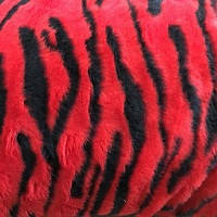 Чехлы универсальные искуственный мех красные (полный комплект)