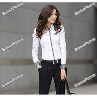 Модная белая женская рубашка, блузка