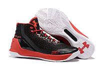 Кроссовки баскетбольные мужские Under Armour Curry 3 Black and red черно-красные , фото 1